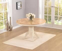 epsom cream 120cm round pedestal dining table set with