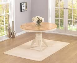 epsom cream 120cm round pedestal dining table set with