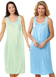 2 pack sleeveless nightgowns