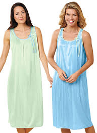 2 pack sleeveless nightgowns