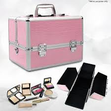 nova portable cosmetic beauty makeup carry case box pink