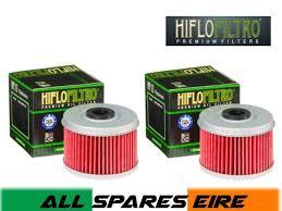 Hiflo Oil Filter Fitment Chart Hiflo Hf113 Honda Atv Quad Oil Filter Trx 300 350 400 420