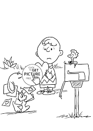Charlie Brown And Valentines Day Coloring