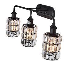 Oil Rubbed Bronze Crystal Vanity Light Lanros 3 Light Vanity Lighting Oil Rubbed Bronze Triple
