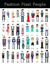 Pixel Character Template Free Pixel Art Template Pixel Sprite Template Danganronpa