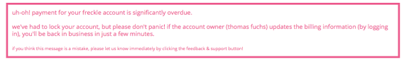 Overdue Account Overdue Account Message Freckle Help