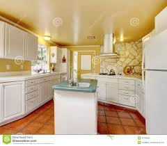 Ivory Kitchen Ivory Kitchen Room With Stone Trim Wall Royalty Free Stock Image