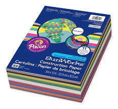Amazon Com Sunworks Smart Stack Construction Paper 9 X 12 Inches Difference Between Construction Paper And Colored Paper L