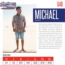 Size Chart For Lularoe Michael It Is A Mens Button Down