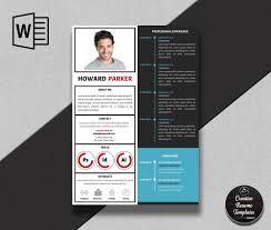 Creative Cv Template In Word Howard Parker Creative Resume Templates
