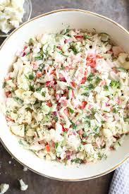 Cauliflower Salad Recipe Cooking Light Light Crab Salad Recipe