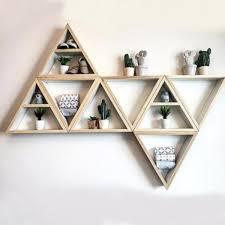 triangular wooden wall shelf apollobox