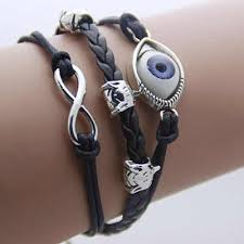 evil <b>eye bracelet Fashion</b> Turkey <b>Rope</b> Infinity Leather Bracelet Men ...
