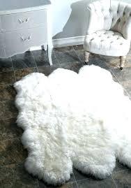 fake animal skin rugs faux white fur rug better sheepskin furry pink large