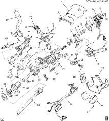 14 15 gm silverado sierra steering column w tilt manual telescope n37 84126498