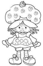 free free cartoon strawberry shortcake for kids colouring pages for kindergarten