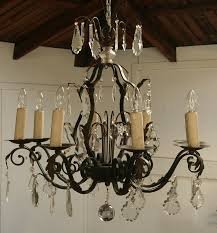 french wrought iron and crystal chandelier haunt antiques for