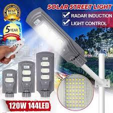 80W/120W <b>Waterproof LED</b> Wall Street Light Solar Powered <b>Radar</b> ...