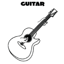Musical instrument coloring page mmusic music electric guitar instrument guitar coloring. Top 25 Free Printable Guitar Coloring Pages Online