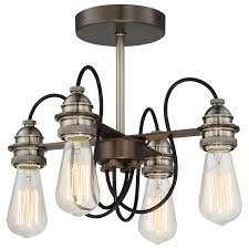 minka lavery uptown edison harvard court bronze with pewter four light semi flush hover to zoom