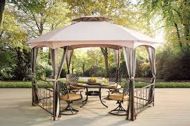 gazebo furniture ideas. Cozy Sunjoy Gazebo For Garden Ideas With Hardtop And Grill Furniture