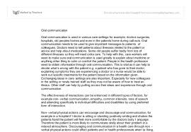 health and social care oral communication a level healthcare document image preview