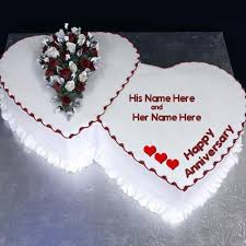 Happy Anniversary Cake Name Picture Anniversary Cakes Name Generator