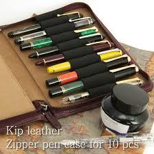 nagasawa penstyle ten simple melody ticket leather zip pen case nagasawa fountain pen leather pen case fastener