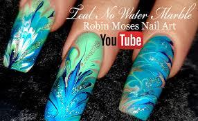 Robin Moses Nail Art: Lavender and Pink No water Dry Drag Marble ...
