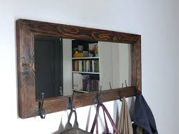 Wall Coat Rack With Mirror Custom Mirror With Coat Hook Mirror Coat Hanger White Wall Shelf With Coat