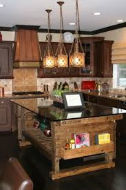 rustic interior lighting. Astounding Design Of The Rustic Kitchen Lighting With Brown Wooden Table And Black Marble Countertops Addde Interior