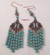 gemstone beaded earrings gift for her earrings turquoise copper