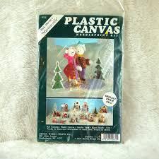 martin design works plastic canvas kit christmas mice skating needlepoint