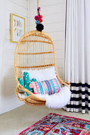 hanging chairs for bedrooms for kids. Boho Chic Girl\u0027s Room With Hanging Rattan Chair | Image Via Project Nursery · Toddler Girl BedroomsBedroom Chairs For Bedrooms Kids