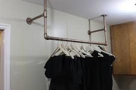 wardrobe racks amusing wall mount clothes rod closet bracket installing