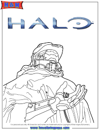 Coloring Pages Halo 5 Video Game Coloring Page Games Coloring