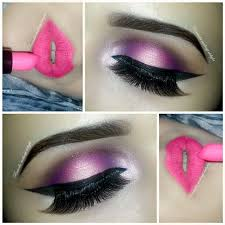 lipstick pink smokey eyes makeup party tips pictures open eye makeup tips bridal stan india facebook