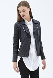 jackets jackets blazers forever 21 quilted faux leather moto jacket