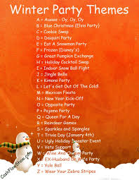 A sales party theme will make your shows more interesting. Here's some  winter themes to try!