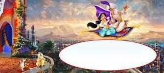 aladdin invitations a whole new world