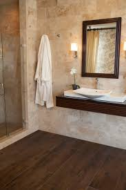 Tile In Bathroom Fancy Hardwood Tile In Bathroom With Additional Interior Decor