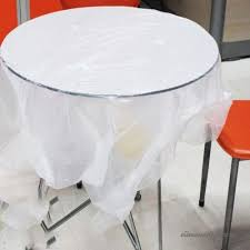 gzz 50 disposable tablecloths plastic s transpa thickening round tables household children s pads disposable tablecloths