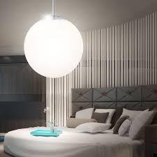 Led 9 5 Watt Pendelleuchte Hängelampe Schlafzimmer Opal Kugel Beleuchtung Design
