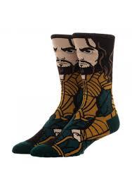Aquaman Dc Comics Justice League 360 Character Crew Socks