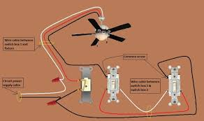 ceiling fans wiring diagrams two switches solidfonts wiring a switched diagram electrical 2 white 1 black ceiling fan
