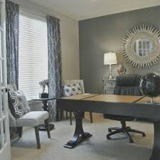 grey home office. Grey Home Office Ideas Transitional With French Door Sunburst Mirror G