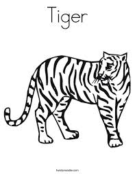 Small Picture Tiger Coloring Page Twisty Noodle