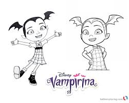 Vampirina Coloring Pages Lineart Free Printable Coloring Pages
