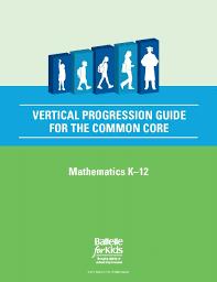 Common Core Math Progressions Chart Amazon Com Vertical Progression Guide For The Common Core