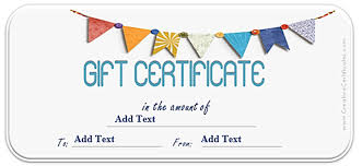 Custom Gift Certificate Templates For Microsoft Word Gift